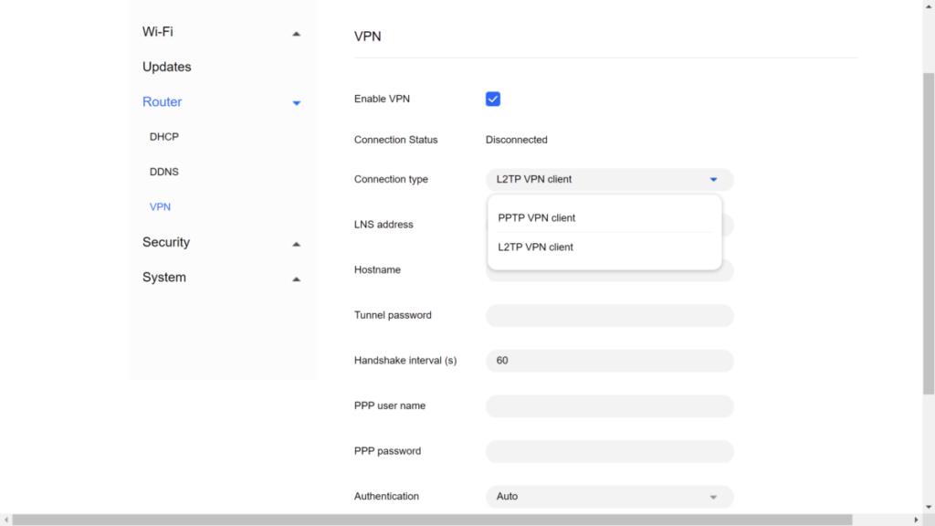 內建VPN Client功能,用家可連線到外國VPN伺服器,全家裝置一齊「翻牆」。