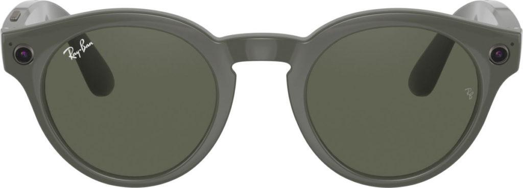 鏡框正面兩側有鏡頭和收音咪,鏡框和眼鏡臂內側都另有咪高風開孔。