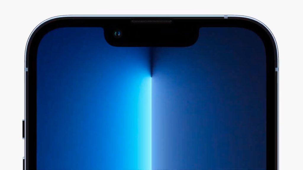 iPhone 13 Pro 系列的瀏海一樣縮小 20% 。